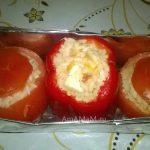 Фаршированные овощи с кальмарами (Йемиста)