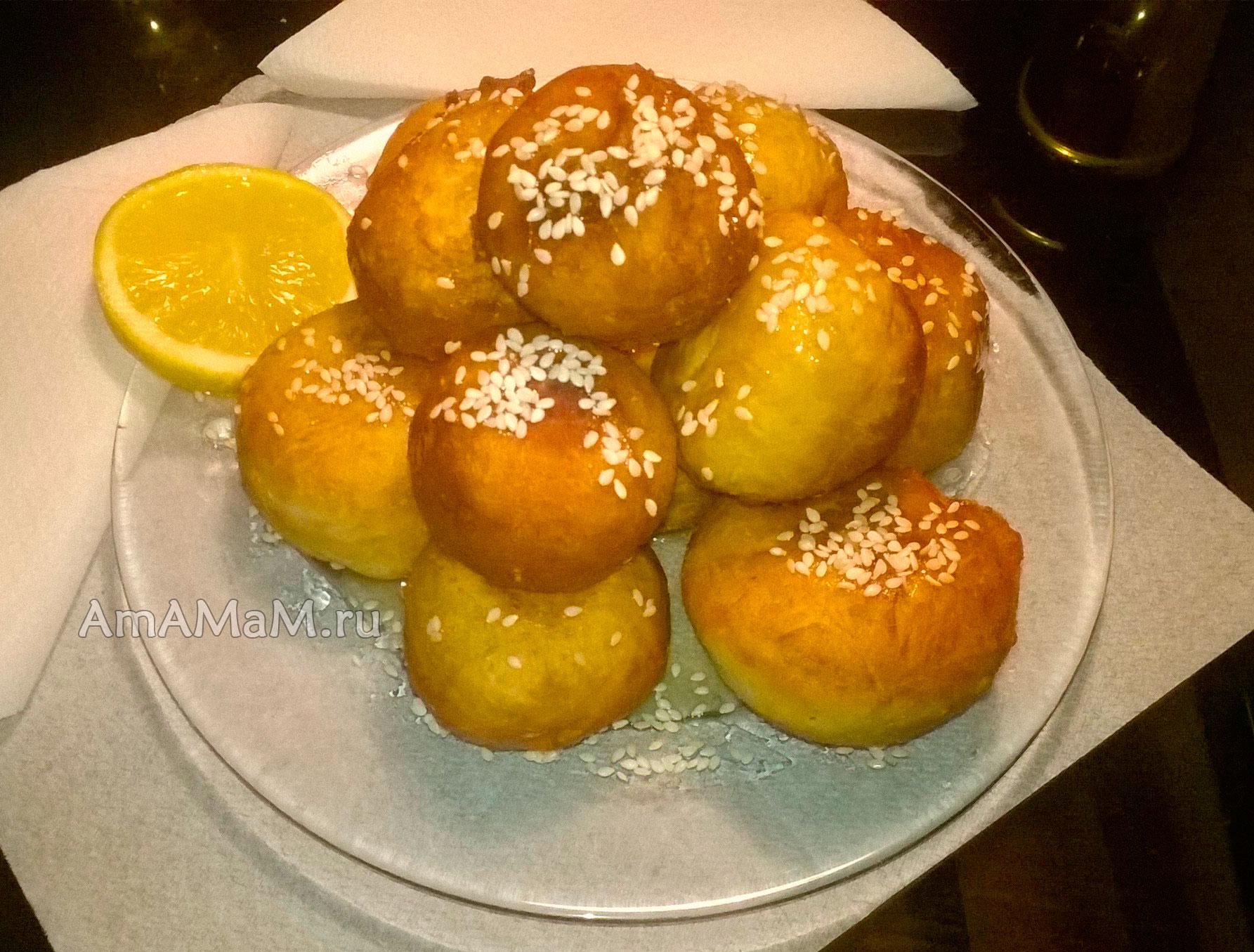 Лукумадэс Λουκουμαδες Греческие пончики  Греческая кухня