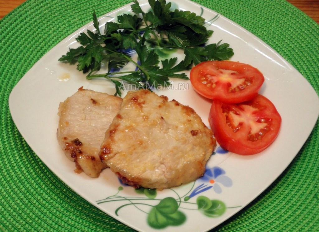 Способ приготовления сладкой свинины и фото