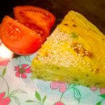 Блинный пирог с морковью и сыром