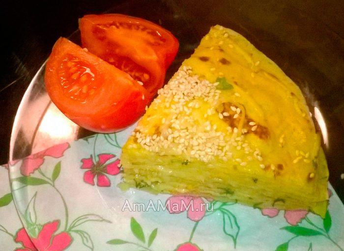 Овощные блины рецепт фото