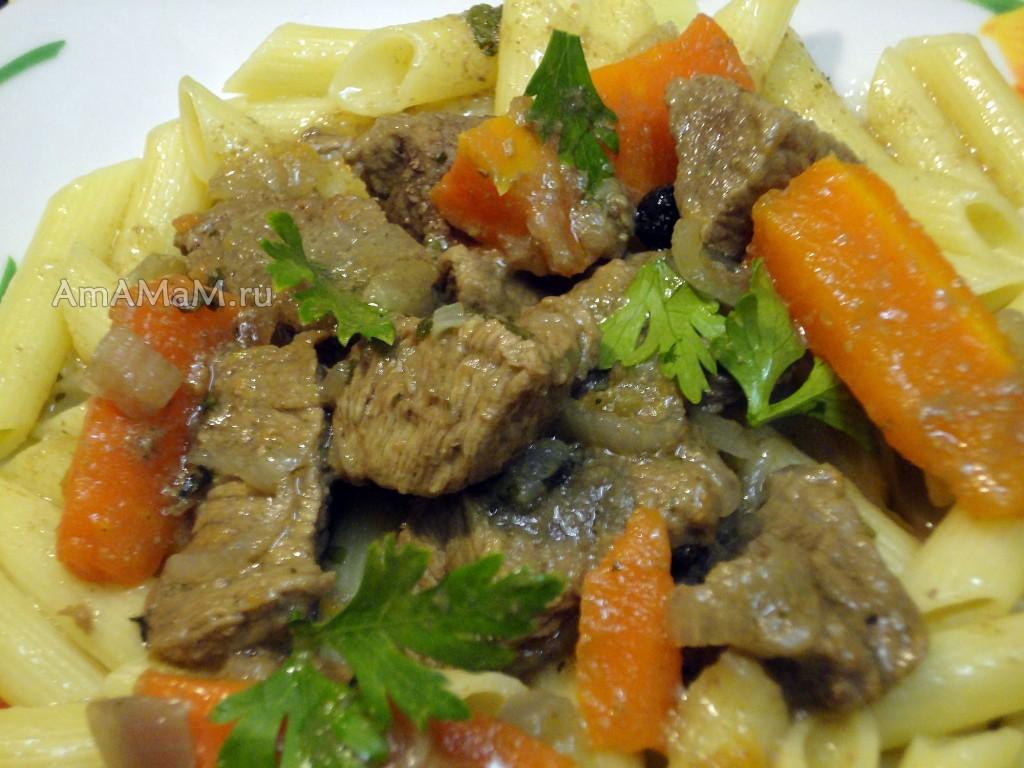 Рецепт рагу из говядины (полосочками)