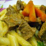 Филе говядины — тушеное с овощами