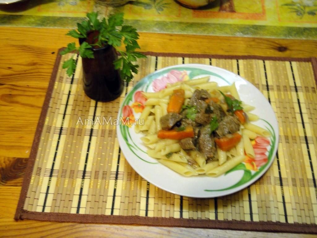 Говядина в соусе из крахмала - рецепт
