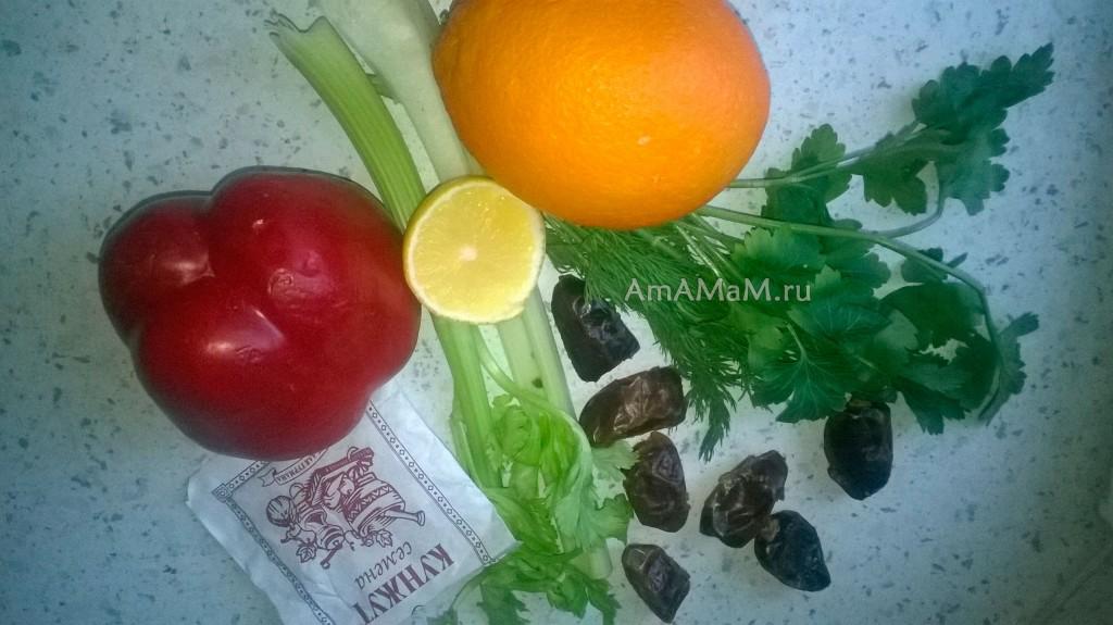 Состав салата с куриной грудкой и рецепт