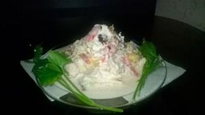 Праздничный сочный куриный салат - рецепт и фото