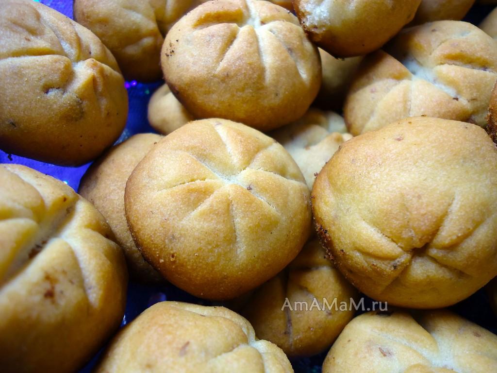 Грецкие орехи - печенье песочное