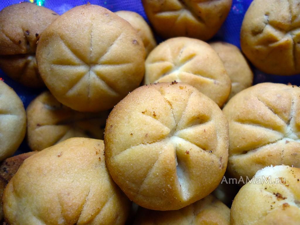 Приготовление печенья с грецкими орехами
