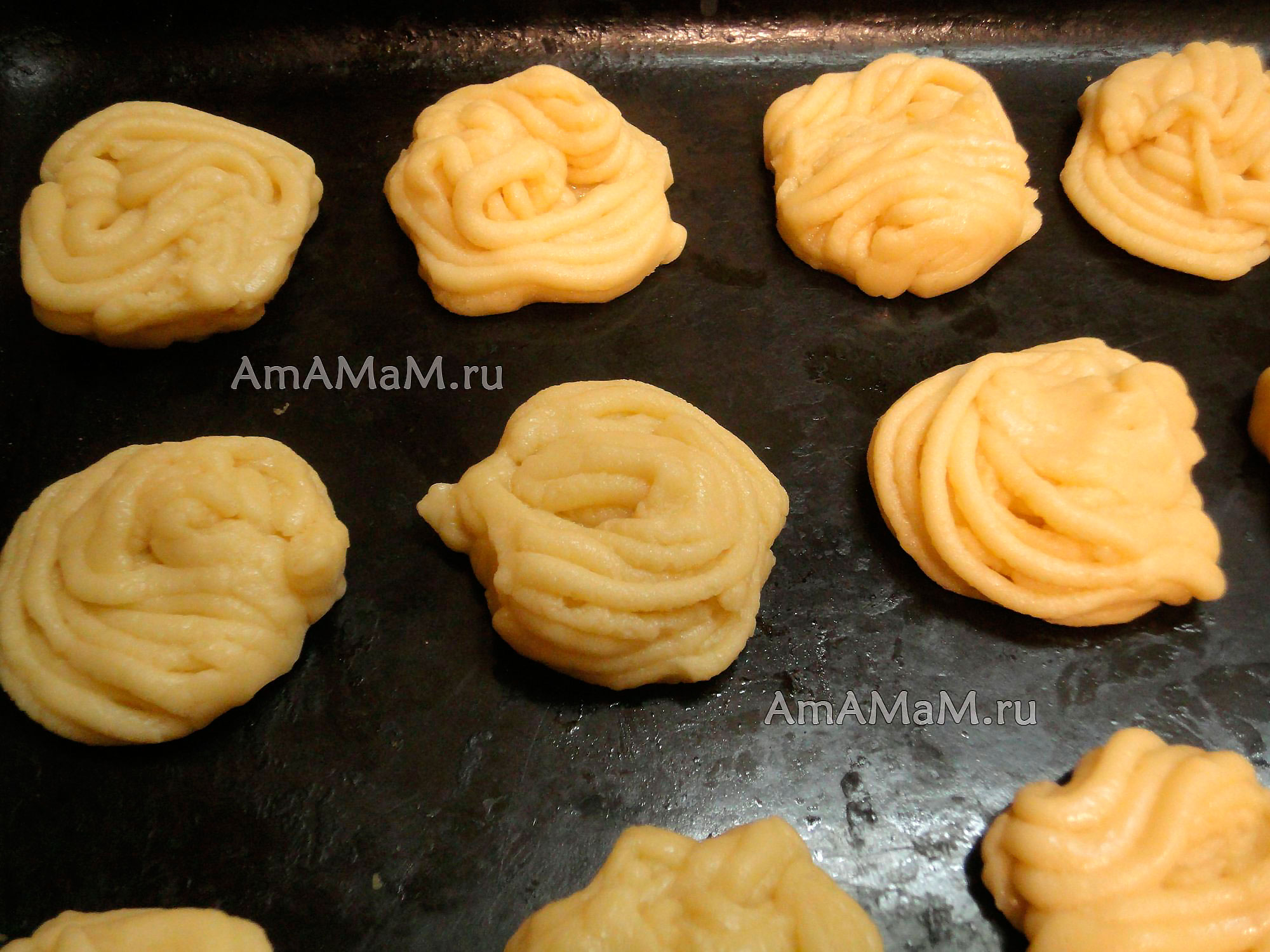 Пошаговое приготовление печенья из мясорубки