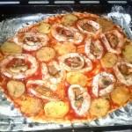 Запекание пиццы с кальмарами в домашних условиях - рецепт и фото