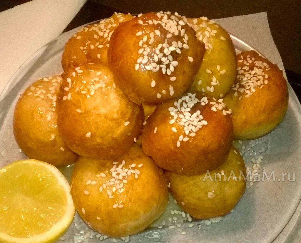 Медовые пончики лукумадес - рецепт и подробные фото