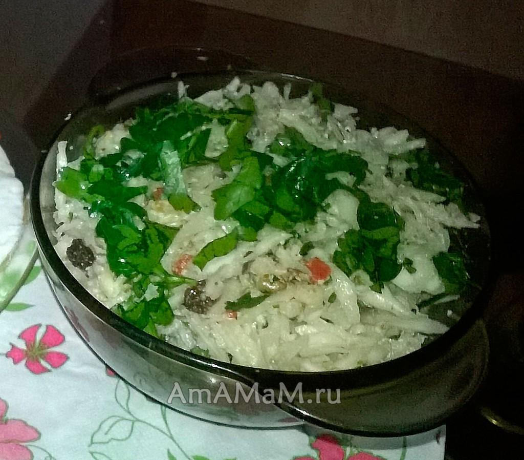 Рецепт капустного салата по-грузински