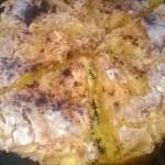 Яблочный песочный пирог в сиропе