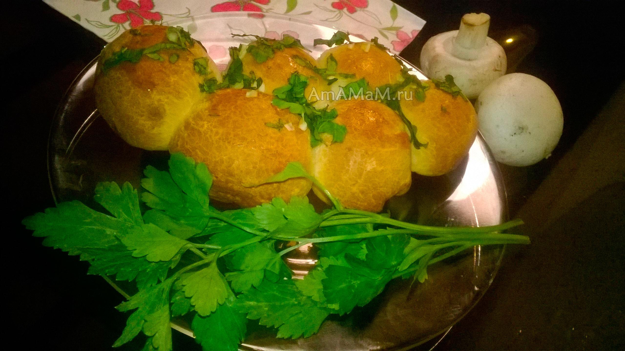 Булочки с чесноком и зеленью рецепт 98
