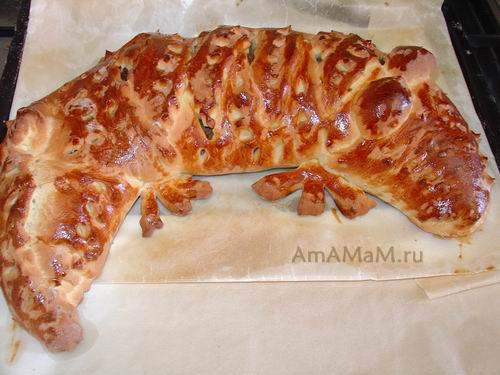 Пирог-крокодил - рецепт и фото