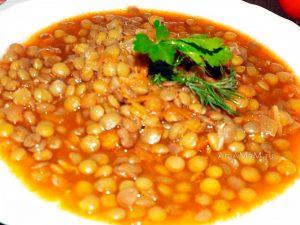 Суп из чечевицы с овощами на воде (постный) - рецепт с фото