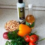 Ингредиенты греческого салата Мавроматика и рецепт