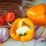 Фасолевый салат со свежими овощами