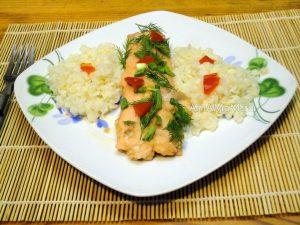 Рецепт горбуши в соевом соусе с имбирем (на пару в кастрюле, без пароварки)