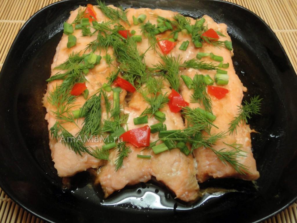 Рецепт красной рыбы на пару и фото блюда