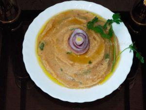 Рецепт горохового пюре с луком и оливковым маслом по-гречески