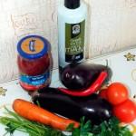 Ингредиенты блюда Имам Баялды из баклажанов