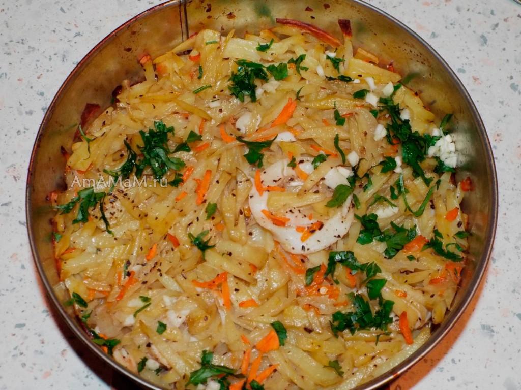 Рецепт кальмаров с картошкой - просто и вкусно, готовятся в духовке