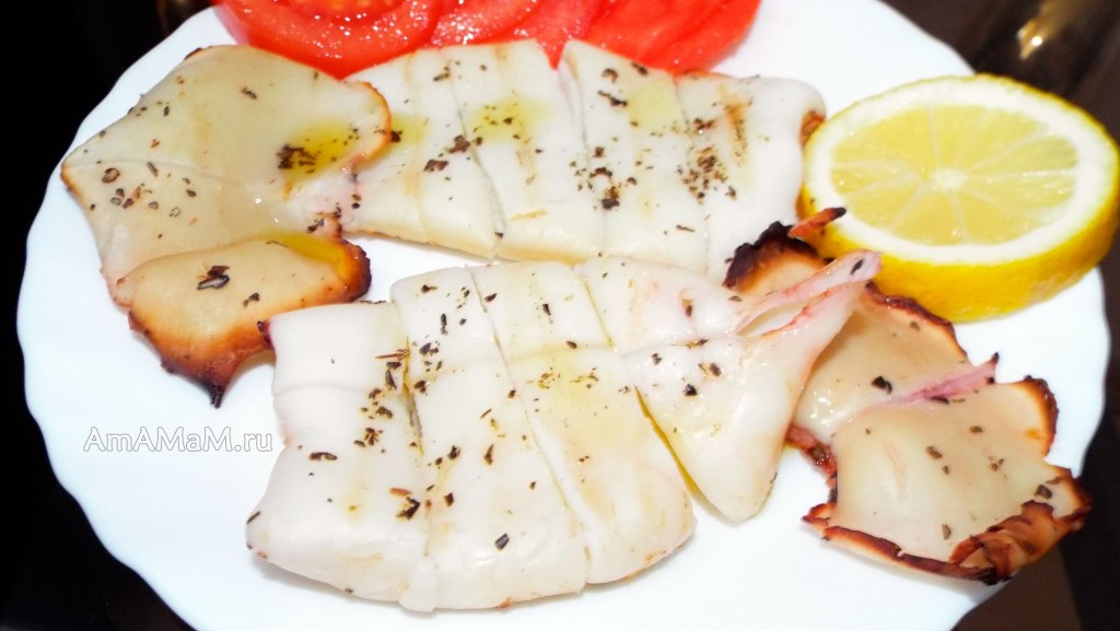 Рецепт приготовления кальмаров -  очень простой способ, очень вкусно.