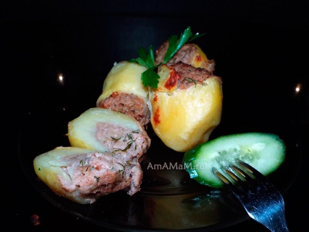Приготовления картофеля с начинкой с пошаговыми фото