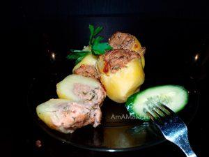 Постный рецепт фаршированного картофеля с фото