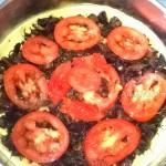Состав и рецепт постного проига из картофельного пюре с грибами и помидорами