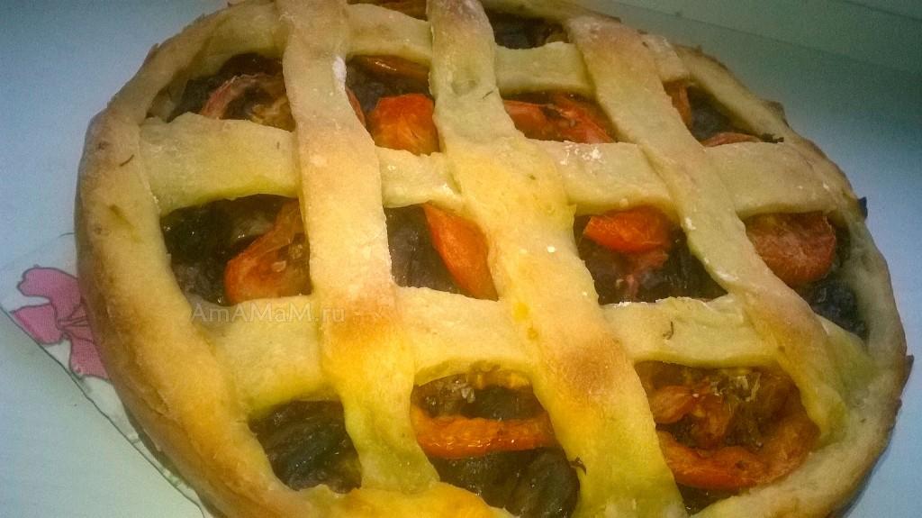 Грибной пирог-плетенка - постный рецепт
