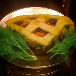Рецепт грибного пирога - постная выпечка