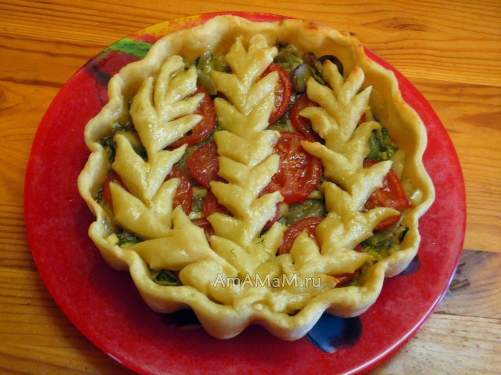 Пошаговые фото пирога с шампиньонами