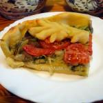 Постный грибной пирог с шампиньонами - рецепт