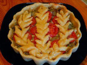 Рецепт картофельного постного пирога с грибами