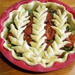 Украшения открытых пирогов - фото