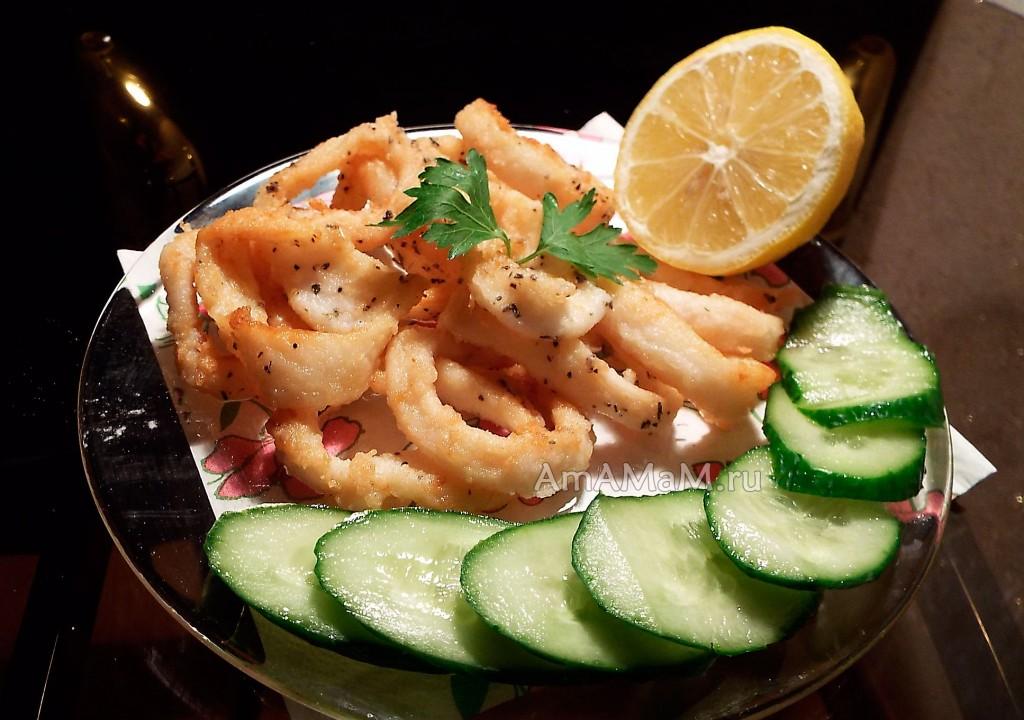 Рецепт приготовления кальмаров - кольца во фритюре