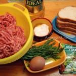 Ингредиенты котлетного фарша для котлет в духовке