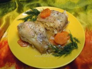 Приготовление морского окуня с овощами - рецепт с фото