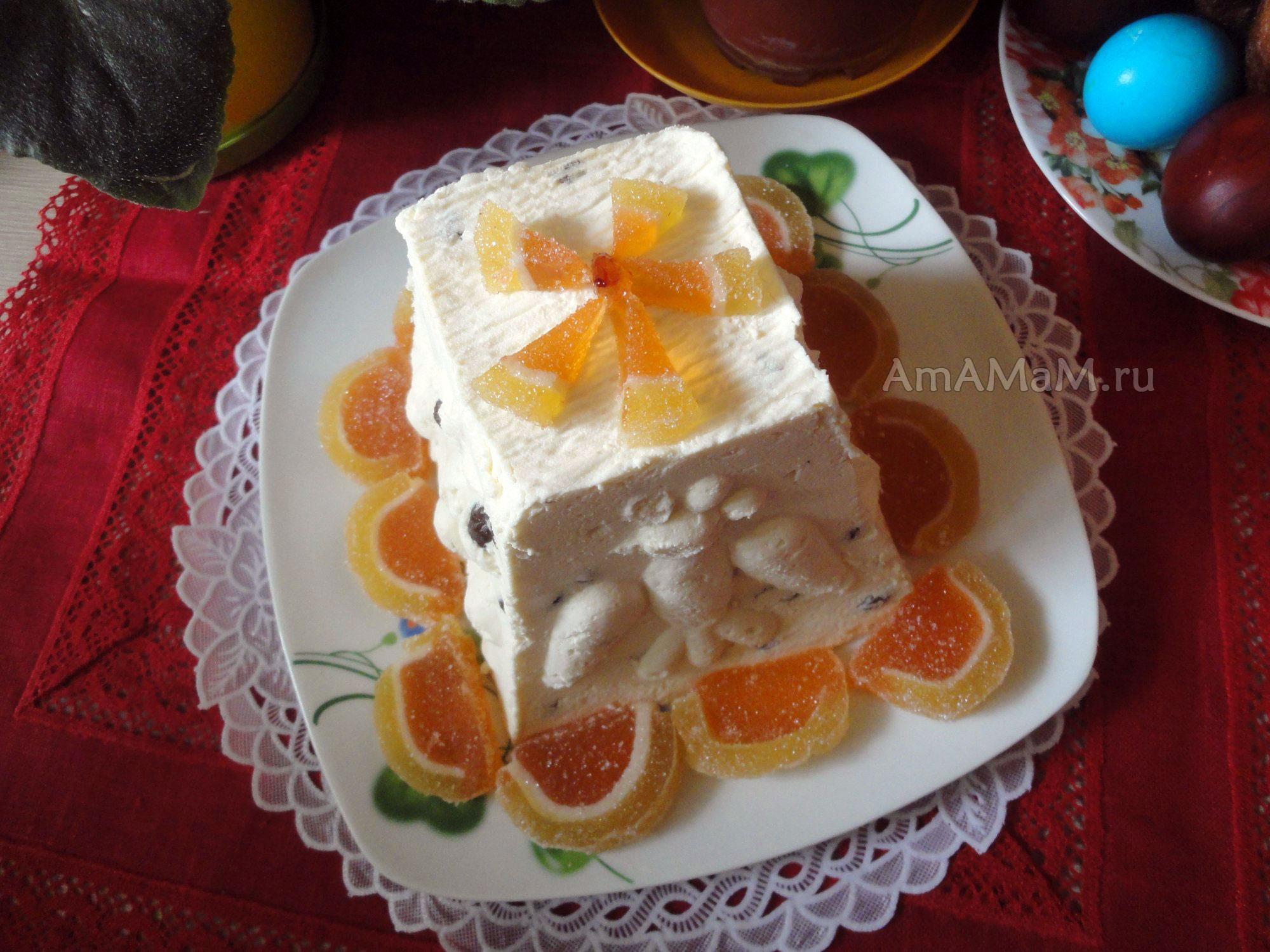 Пошаговый рецепт пасхи творожной