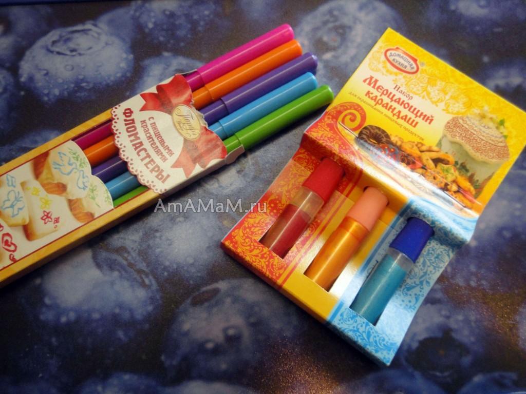 Рисуем кондитерскими карандашами (фломастерами)