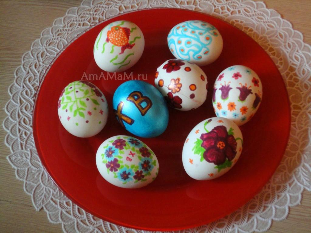 Примеры росписи пасхальных яиц - фото