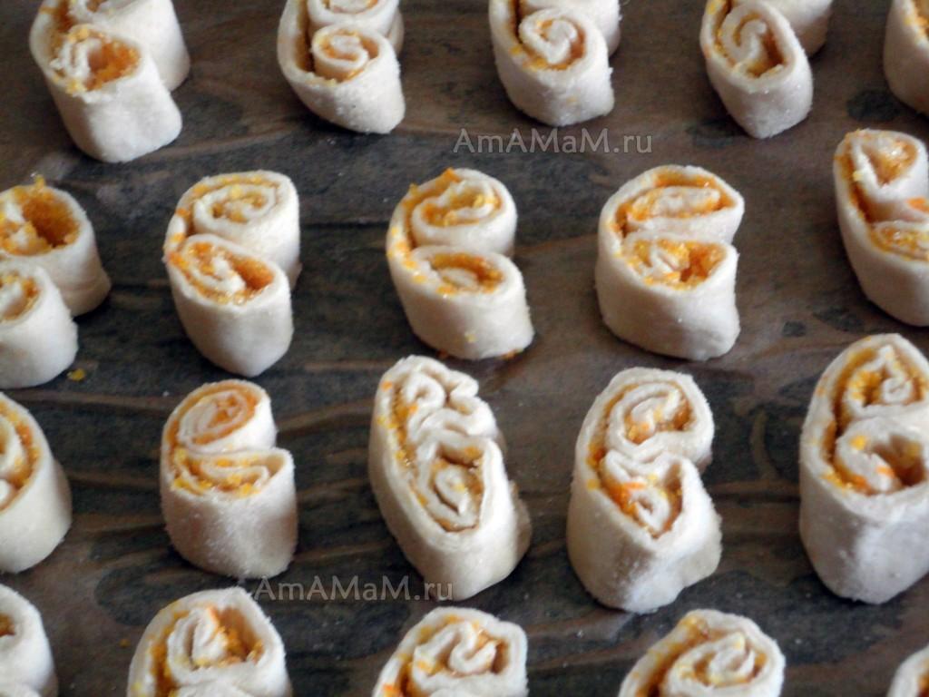Печенье ушки рецепт фото пошагово