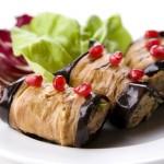 Рулетики из баклажанов с ореховой начинкой - пхали