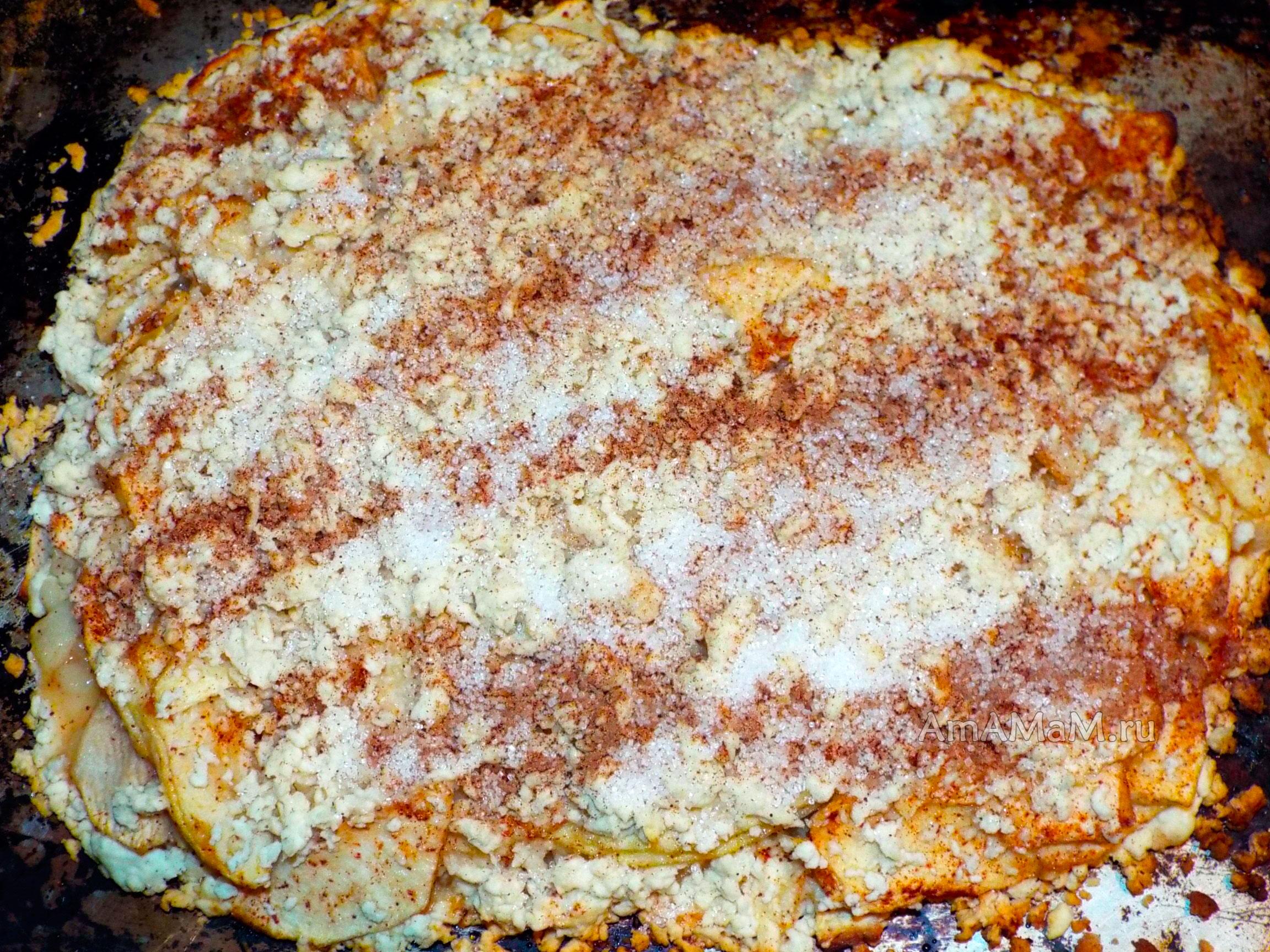 Пирог с тертыми яблоками рецепт пошагово