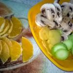 Фото и рецепт овощного рагу, выложенного крудочками в форме для запекания на основе из теста