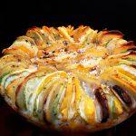 Запеченные овощи с апельсином (пирог-рататуй слоеный)