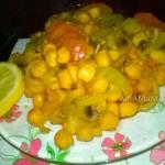 Ревитья (нут) с овощами в духовке