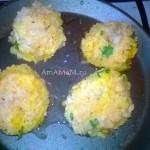 Как делают рисовый шарик с овощной постной начинкой - фото